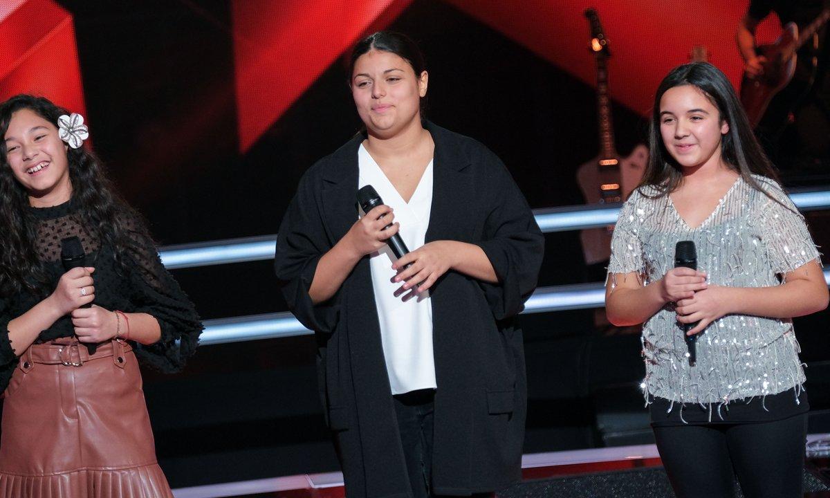The Voice Kids 2020 - Battle - Emma vs Ema vs Elaia chantent « Somebody That I Used To Know » de Gotye ft. Kimbra (Team Patrick Fiori)
