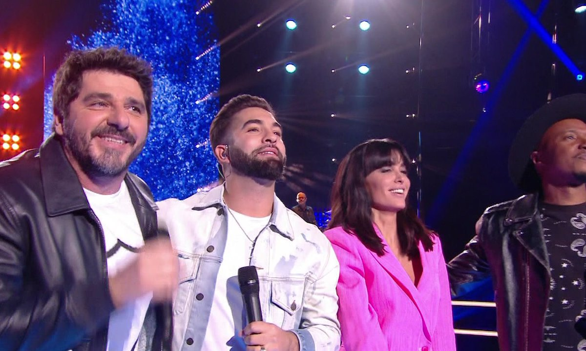 The Voice Kids 2020 – Collégiale : Kendji Girac, Jenifer, Soprano et Patrick Fiori chantent « Viens on s'aime » de Slimane