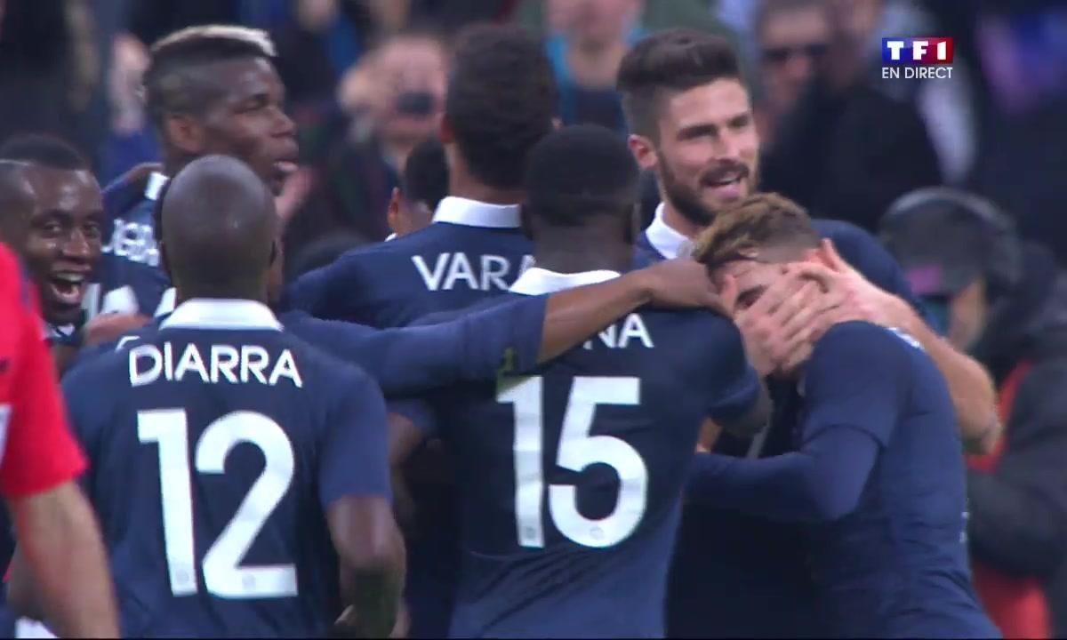 France 1 - 0 Allemagne : le but de Giroud