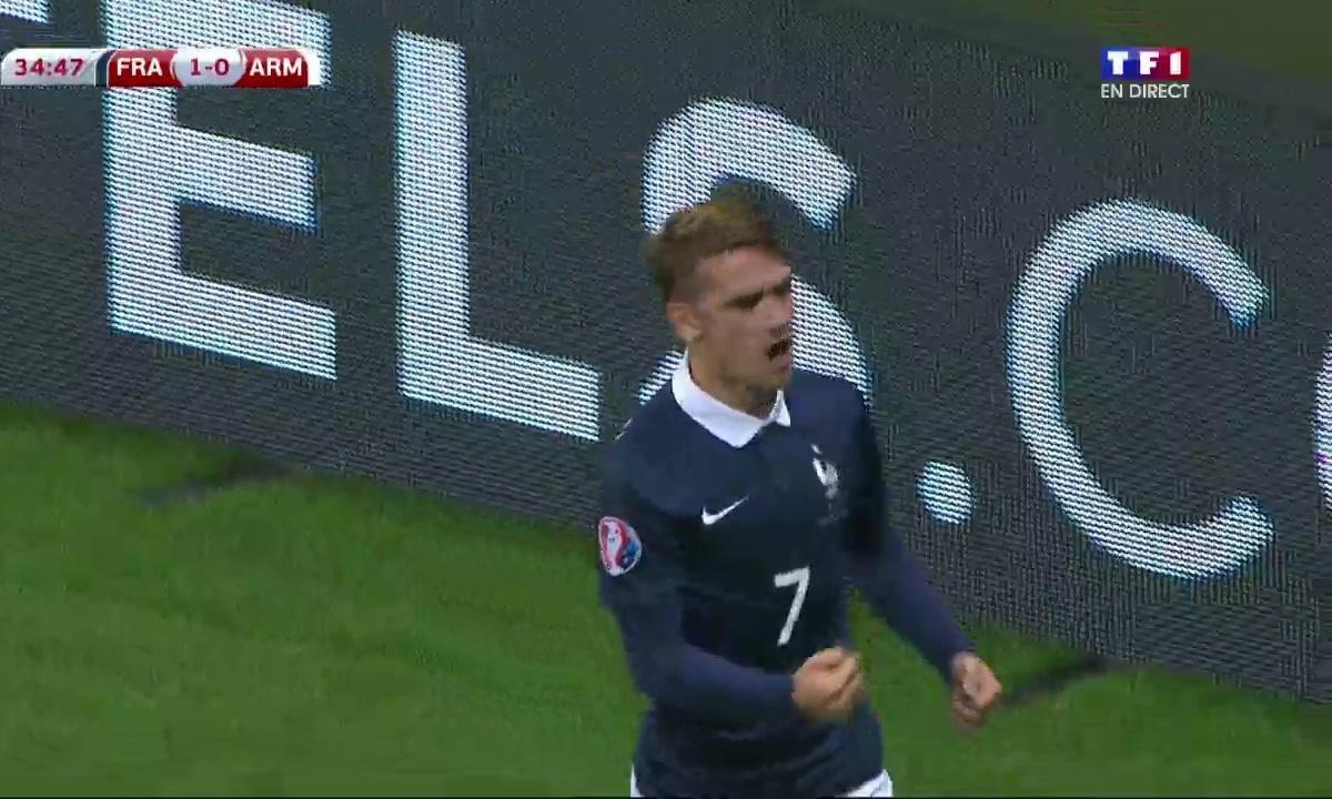 France  1 - 0 Arménie : le but de Griezmann