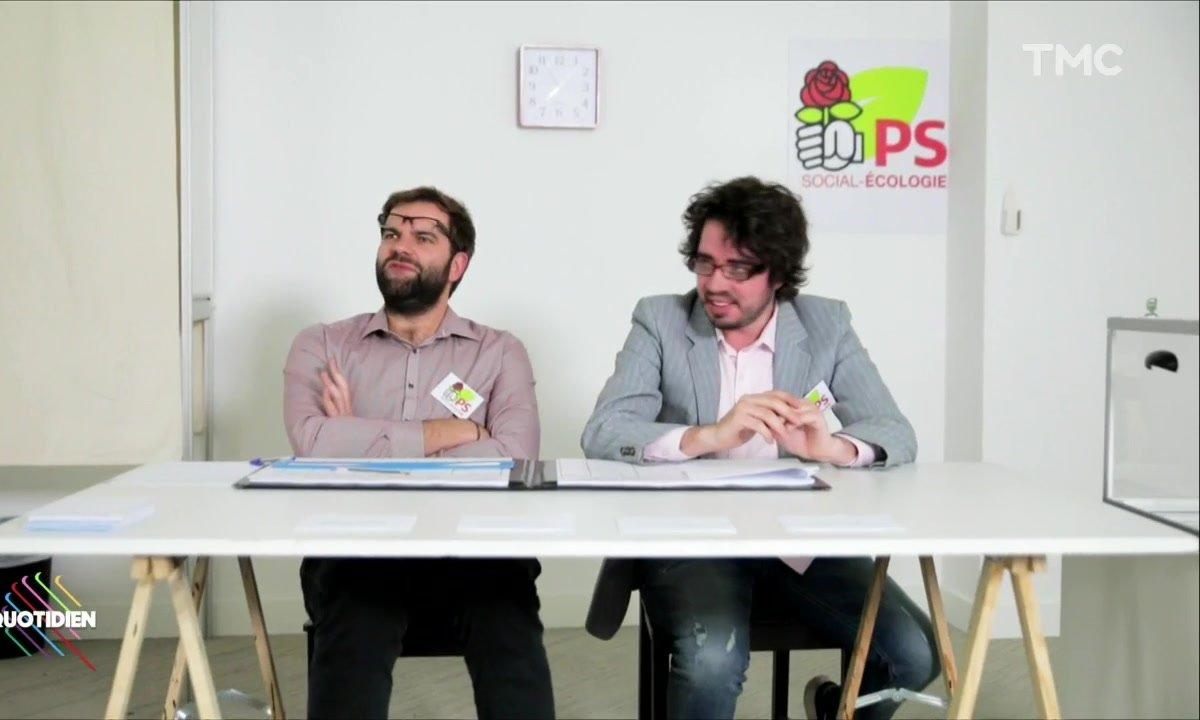 Dans un bureau de vote PS (Eric et Quentin )