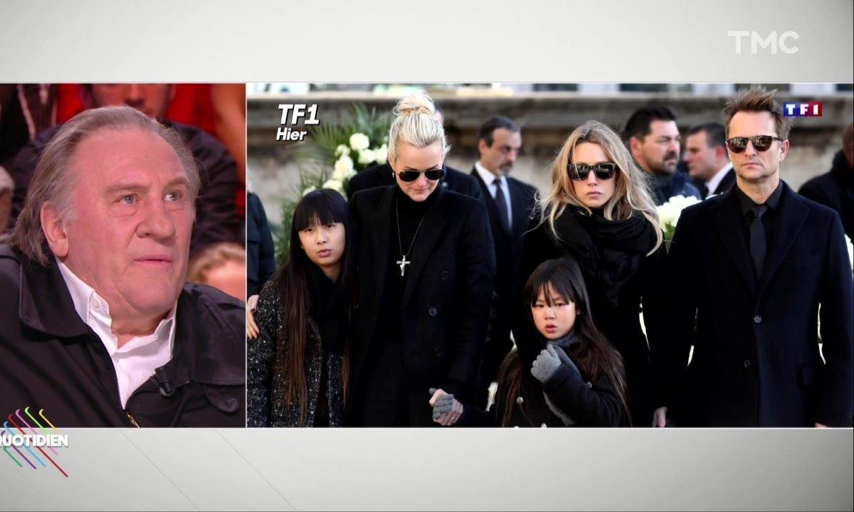 """""""Elle va en chier Laetitia"""" : Gérard Depardieu réagit à la polémique """"Hallyday"""""""