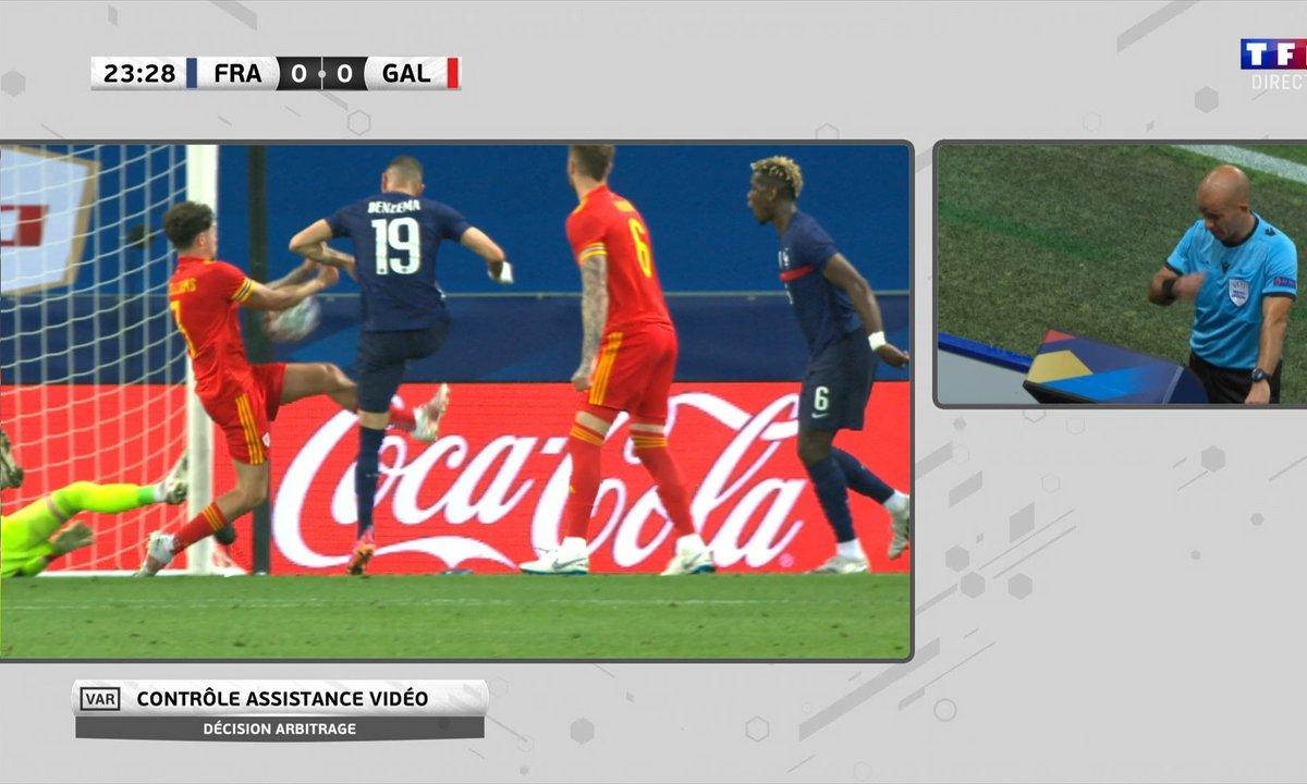 France - pays de Galles (0 - 0) : Penalty pour les Bleus sur une main galloise !