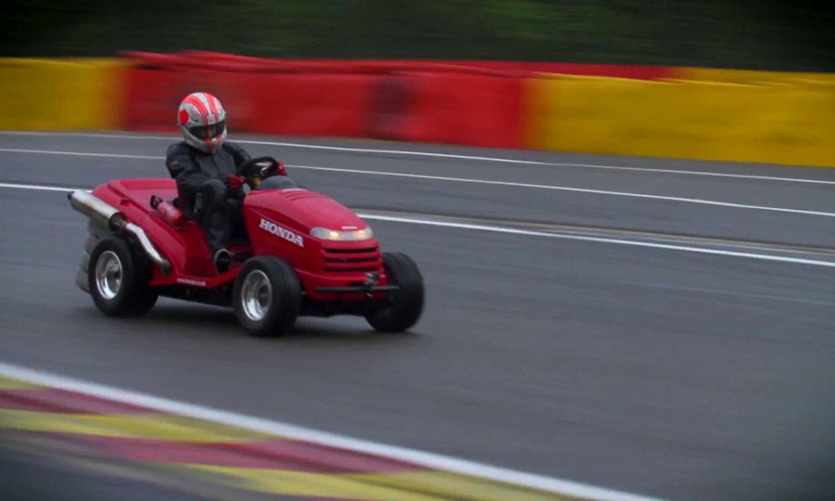 Insolite : la super-tondeuse Honda sur le circuit de Spa-Francorchamps