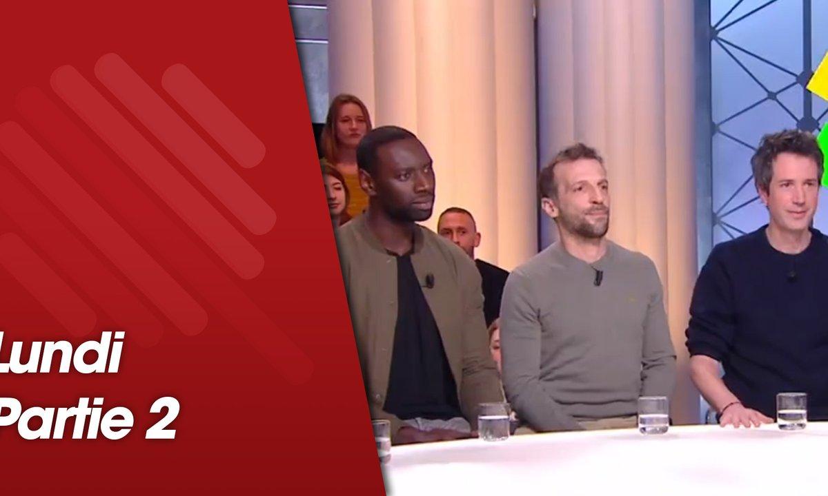 Quotidien, deuxième partie du 11 février 2019 avec Mathieu Kassovitz, Omar Sy, Reda Kated, François Civil et Antonin Baudry