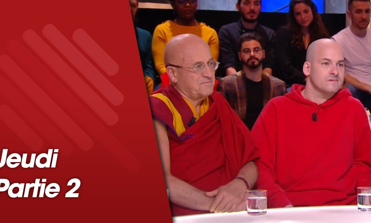 Quotidien, deuxième partie du 24 janvier 2019 avec Matthieu Ricard, Alexandre Jollien et Christophe André