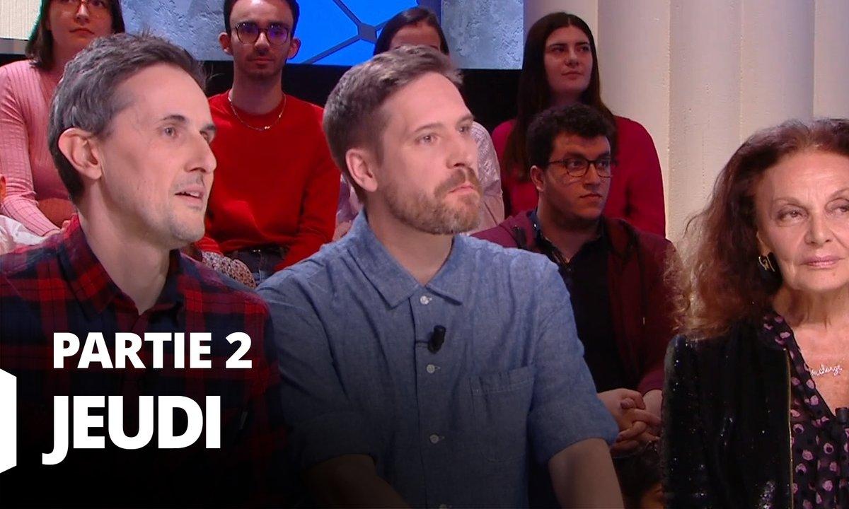 Quotidien, deuxième partie du 27 février 2020 avec Diane von Fürstenberg, Arnaud Hoedt et Jérôme Piron