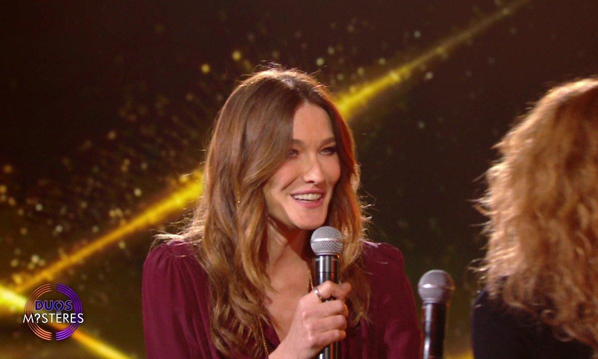 """Duos Mystères - Carla Bruni et Marine Delterme chantent """"La déclaration d'amour"""""""