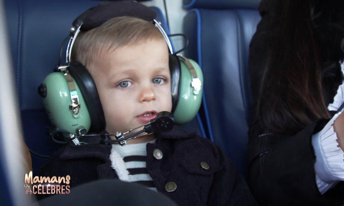 Gianni fait son baptême de l'air en hélicoptère !
