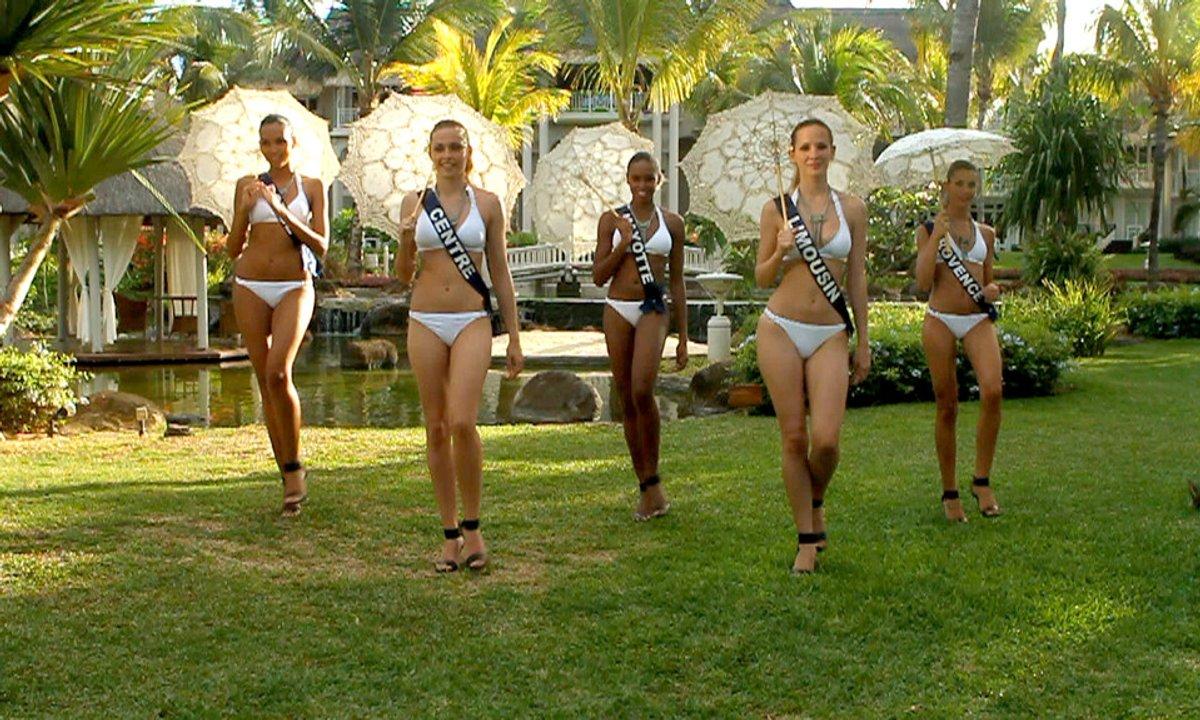 Balade romantique avec Miss Provence, Miss Limousin, Miss Mayotte, Miss Centre et Corse