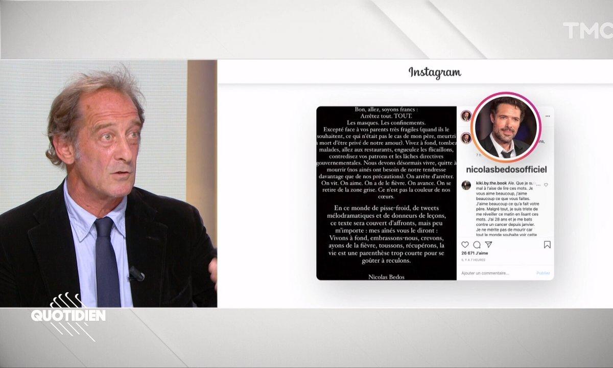 Vincent Lindon réagit à la polémique Nicolas Bedos