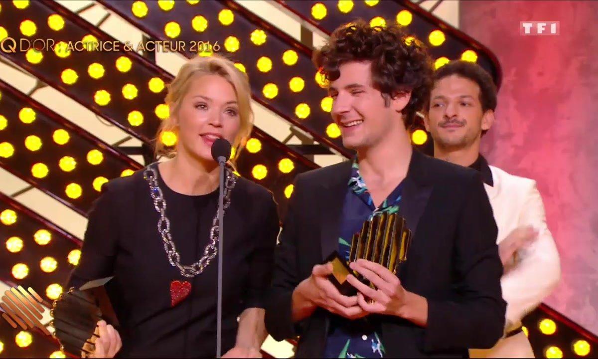 Virginie Efira et Vincent Lacoste, Q d'Or de l'acteur et actrice 2016