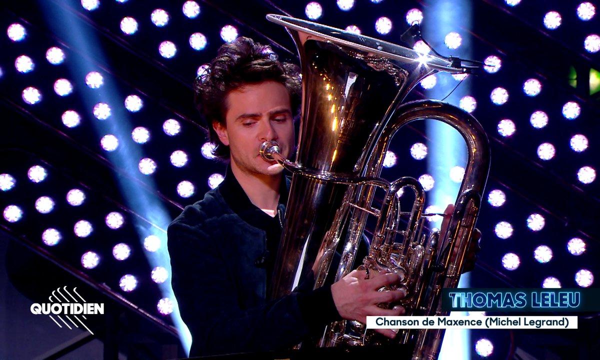 """Thomas Leleu : """"La chanson de Maxence"""" en live pour Quotidien (exclu web)"""
