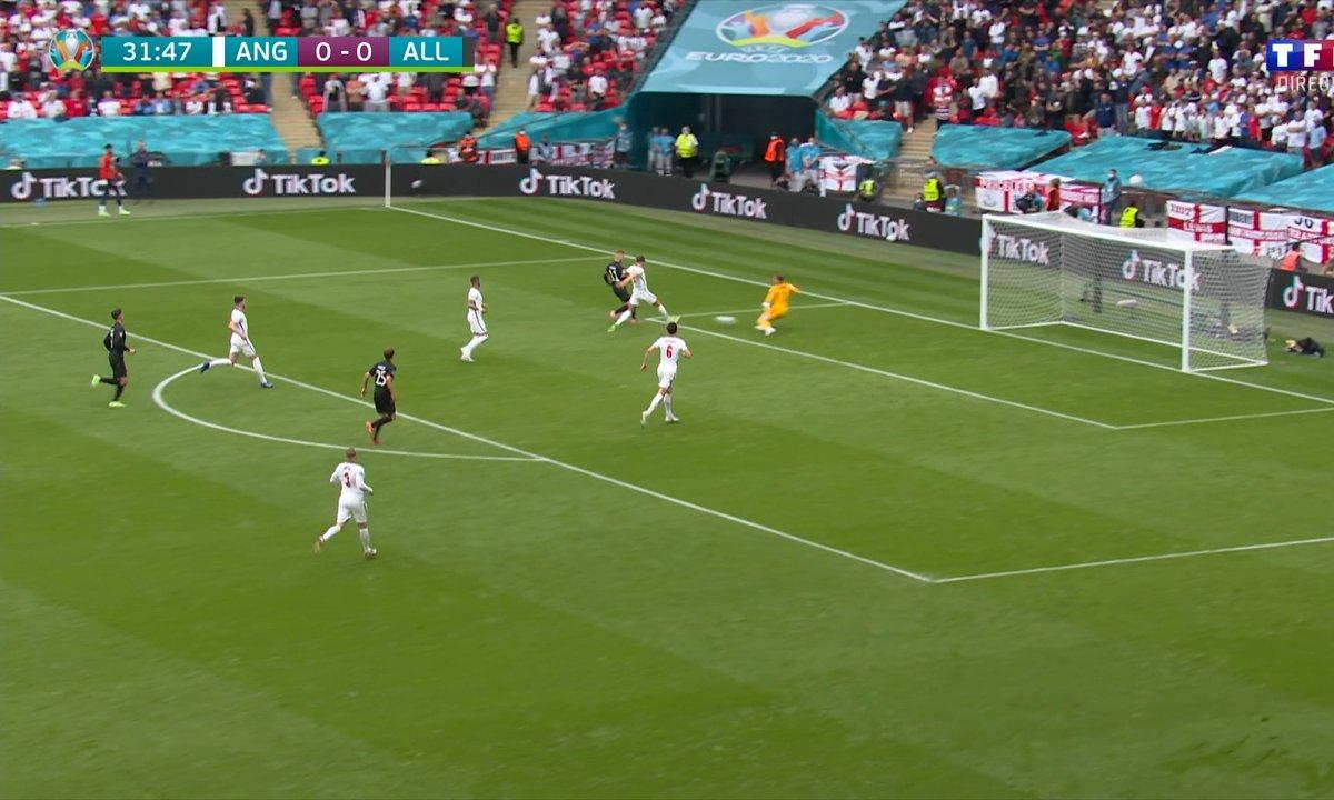 Angleterre - Allemagne (0 - 0) : Voir l'occasion de Werner en vidéo