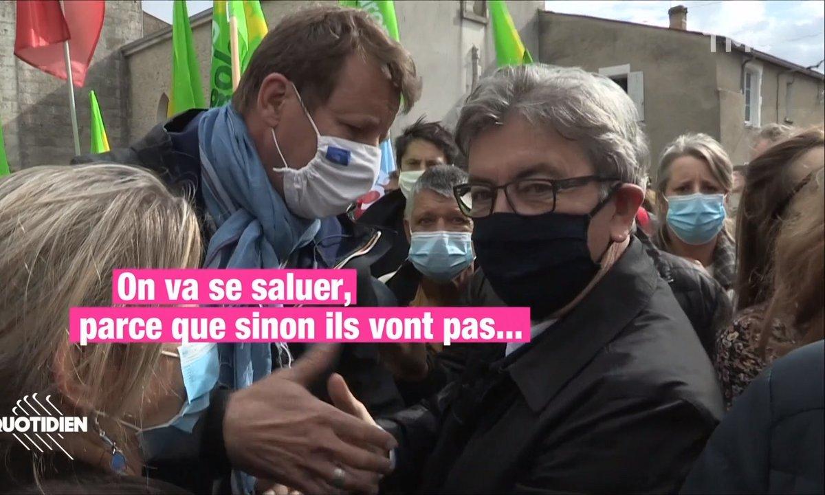 Yannick Jadot et Jean-Luc Mélenchon : au même endroit, au même moment, mais surtout pas ensemble