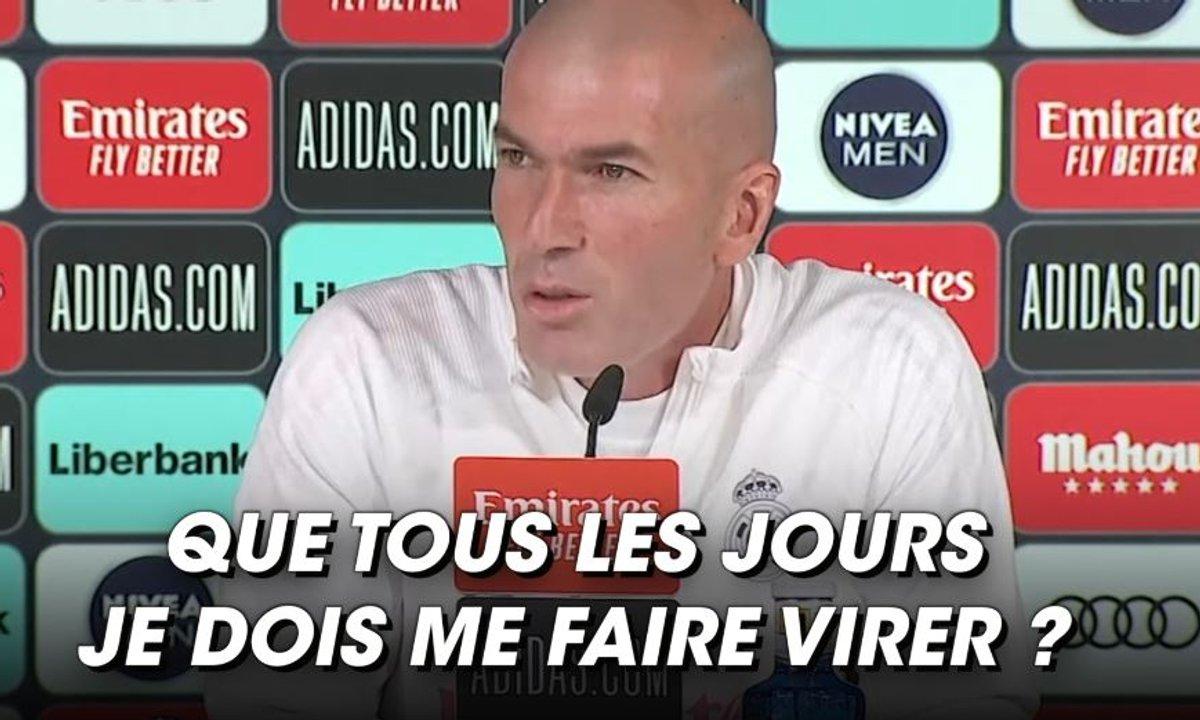 VIDEO - Zidane craque en conférence de presse