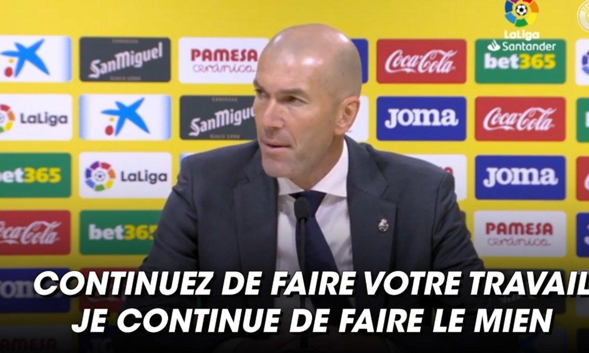 VIDEO – Zidane s'agace après une question d'un journaliste