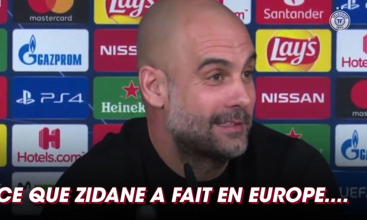 La réponse de Guardiola face aux éloges que Zidane lui a faites