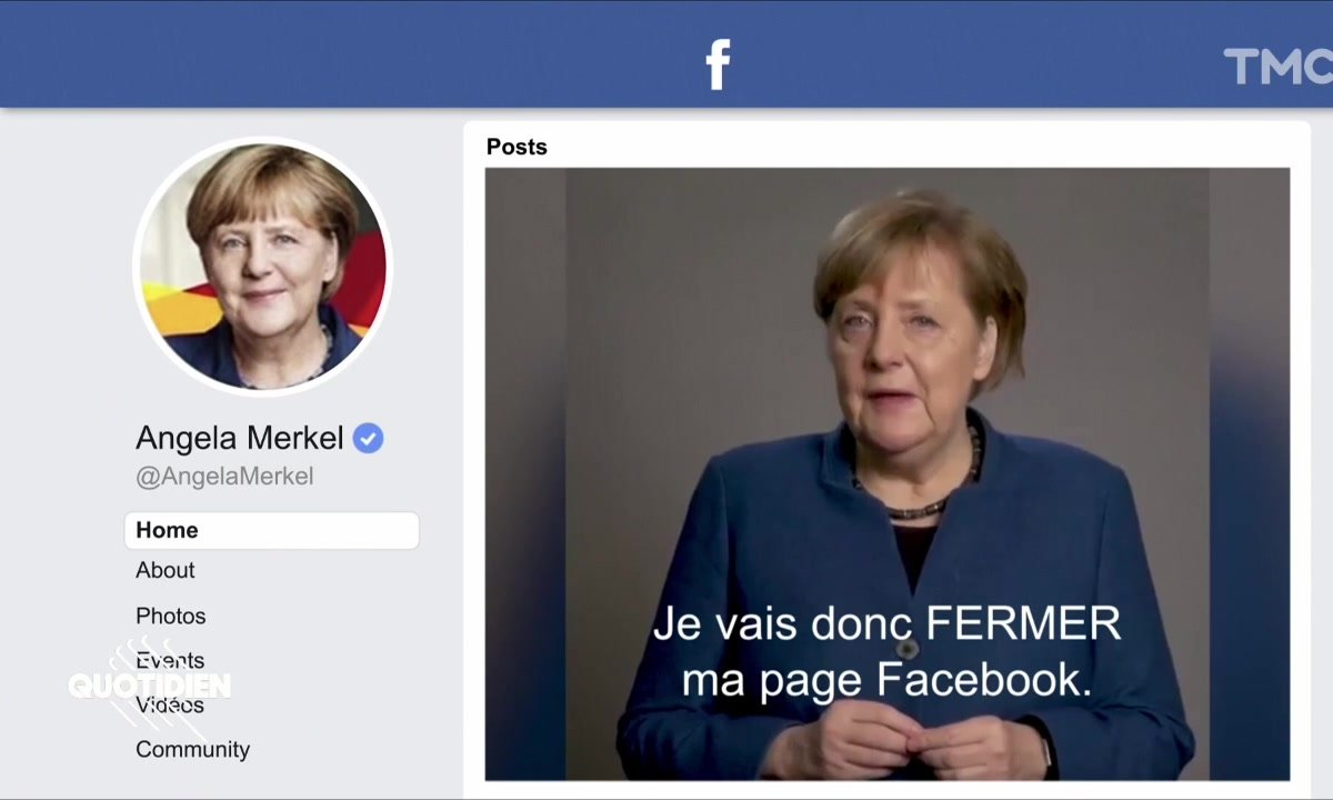 Zoom : Angela Merkel fait ses adieux à Facebook