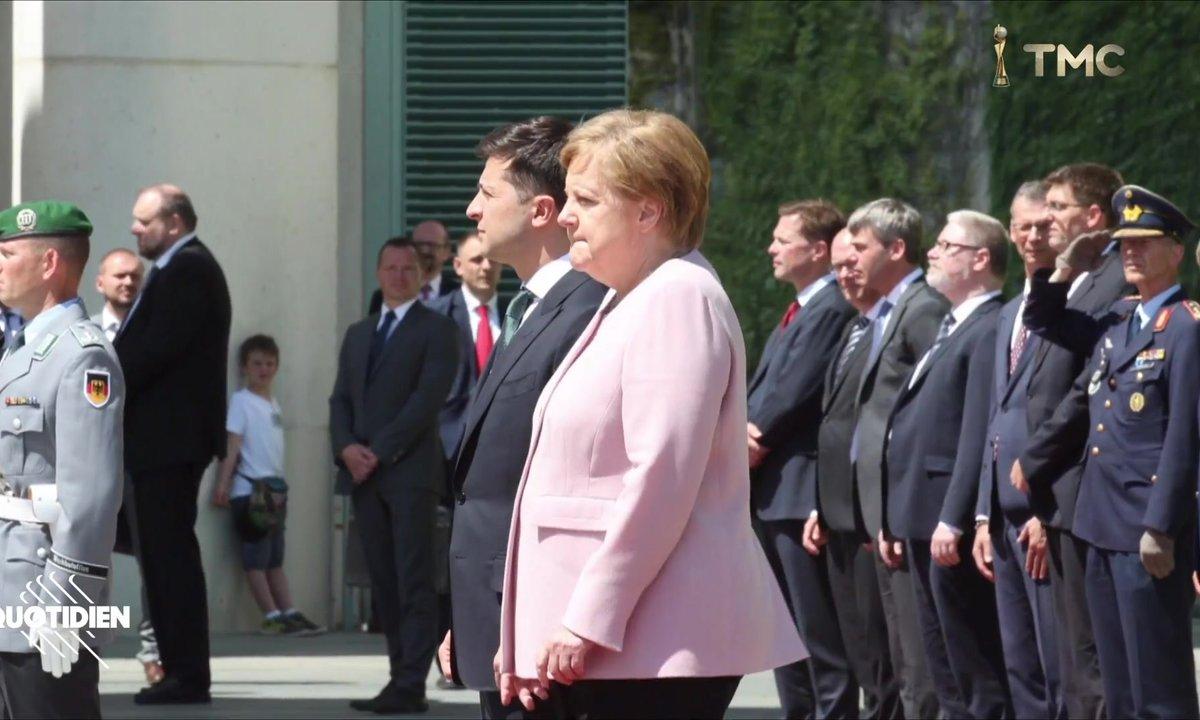 Zoom : Angela Merkel vivement critiquée après son impressionnante crise de tremblements