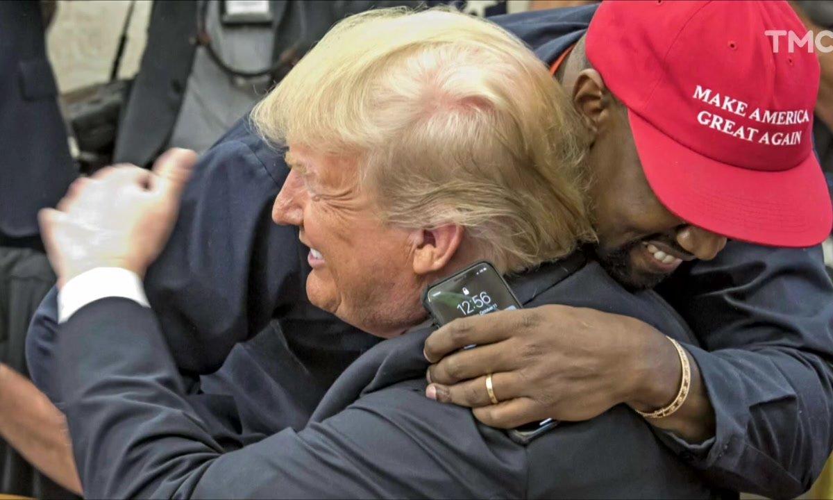Zoom : le câlin de Donald Trump et Kanye West