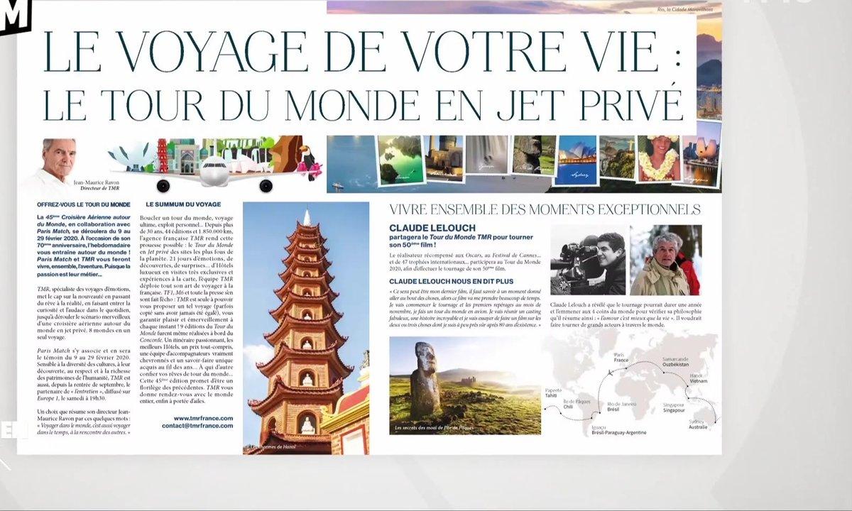 Zoom : la très chic et pas très écolo croisière aérienne de Paris Match