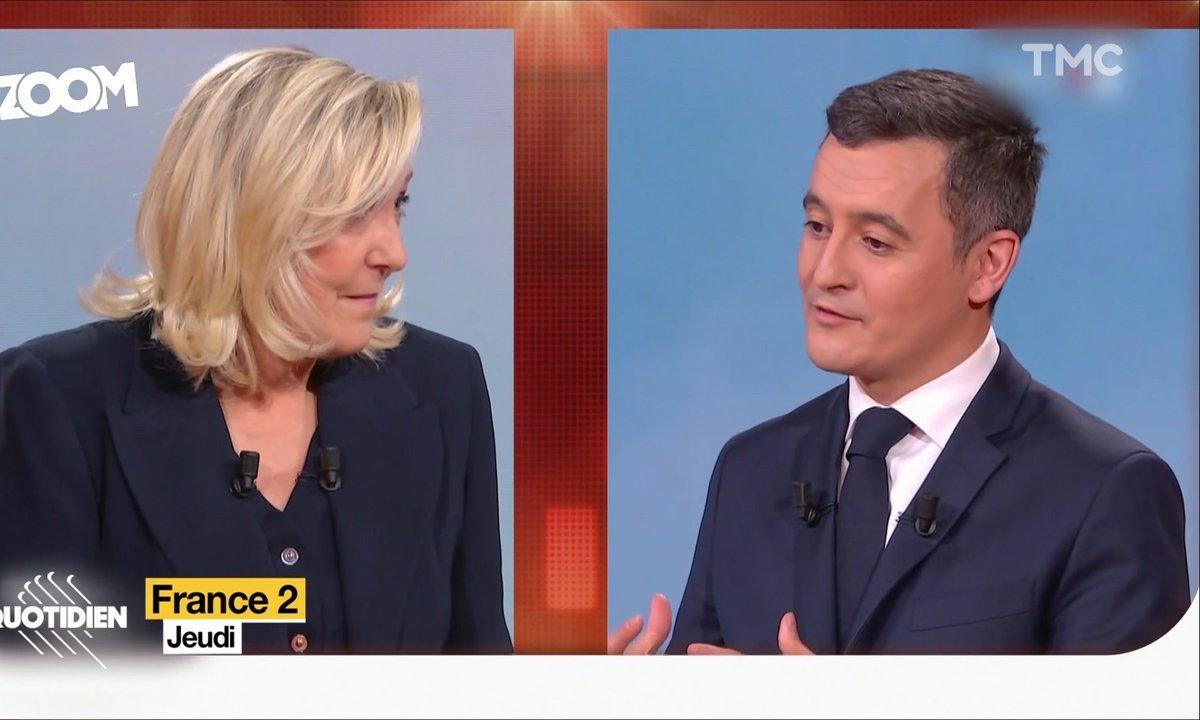 Zoom : Gérald Darmanin face à Marine Le Pen, le débat qui embarrasse la majorité
