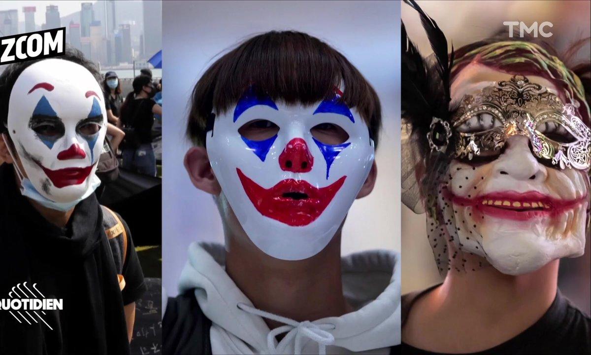Zoom : le Joker et Guy Fawkes, symboles des révoltes populaires