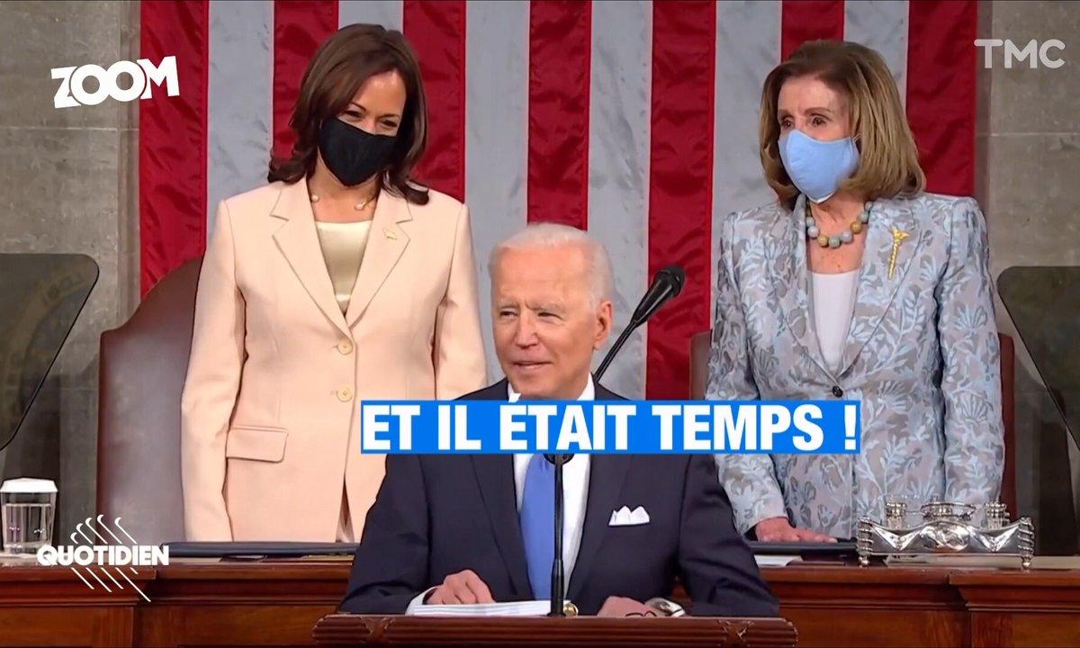 Zoom : le discours hautement symbolique des 100 jours de Joe Biden