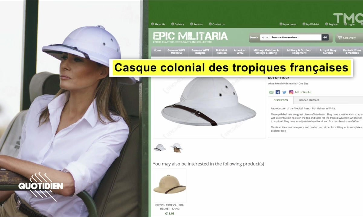 Zoom : le look colonial polémique de Melania Trump