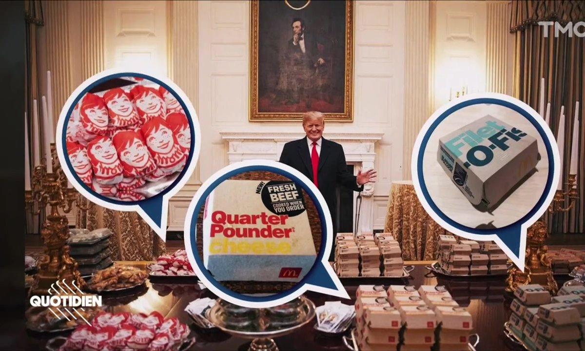 Zoom : orgie de McDo pour Donald Trump à la Maison Blanche