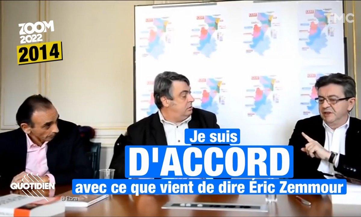 Zoom : que reste-t-il de l'amitié entre Jean-Luc Mélenchon et Éric Zemmour ?