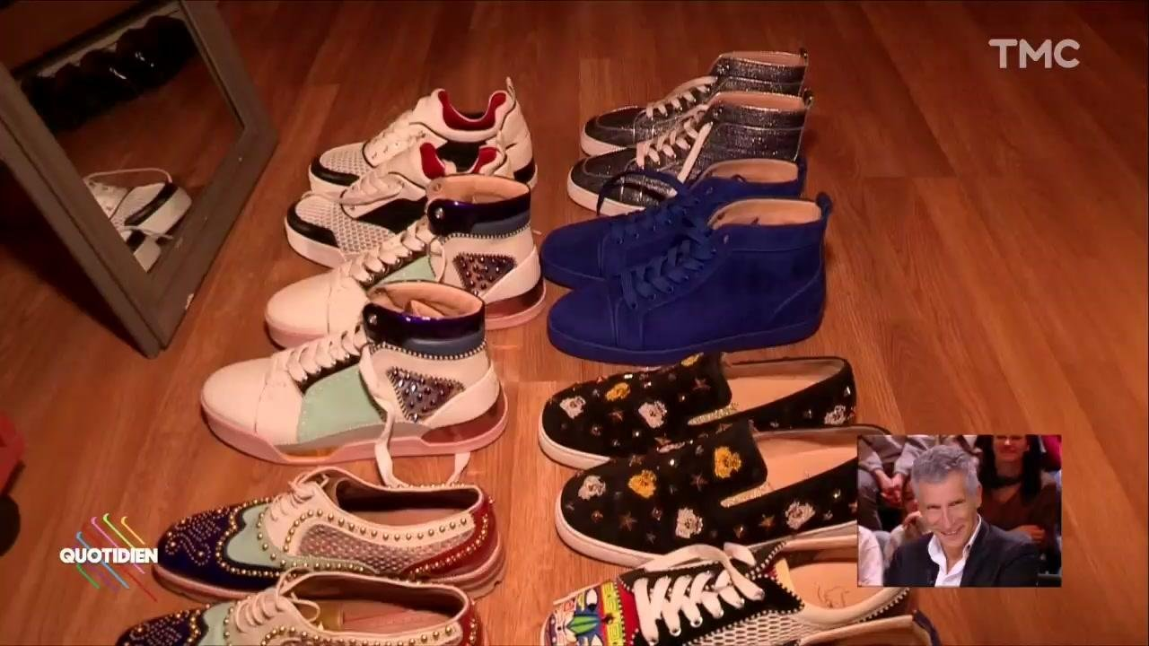design intemporel 542b7 09be7 Nagui, passion chaussures