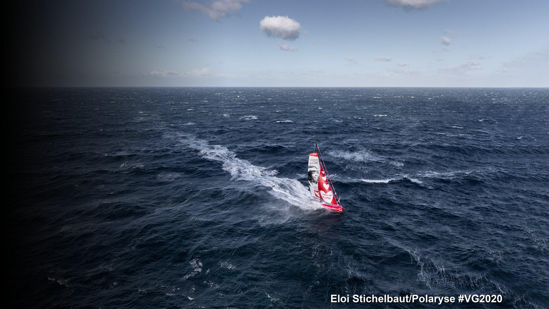 fond Au cœur du Vendée Globe J18 : Le manque de vent et l'anticyclone de Sainte-Hélène donnent du fil à retordre