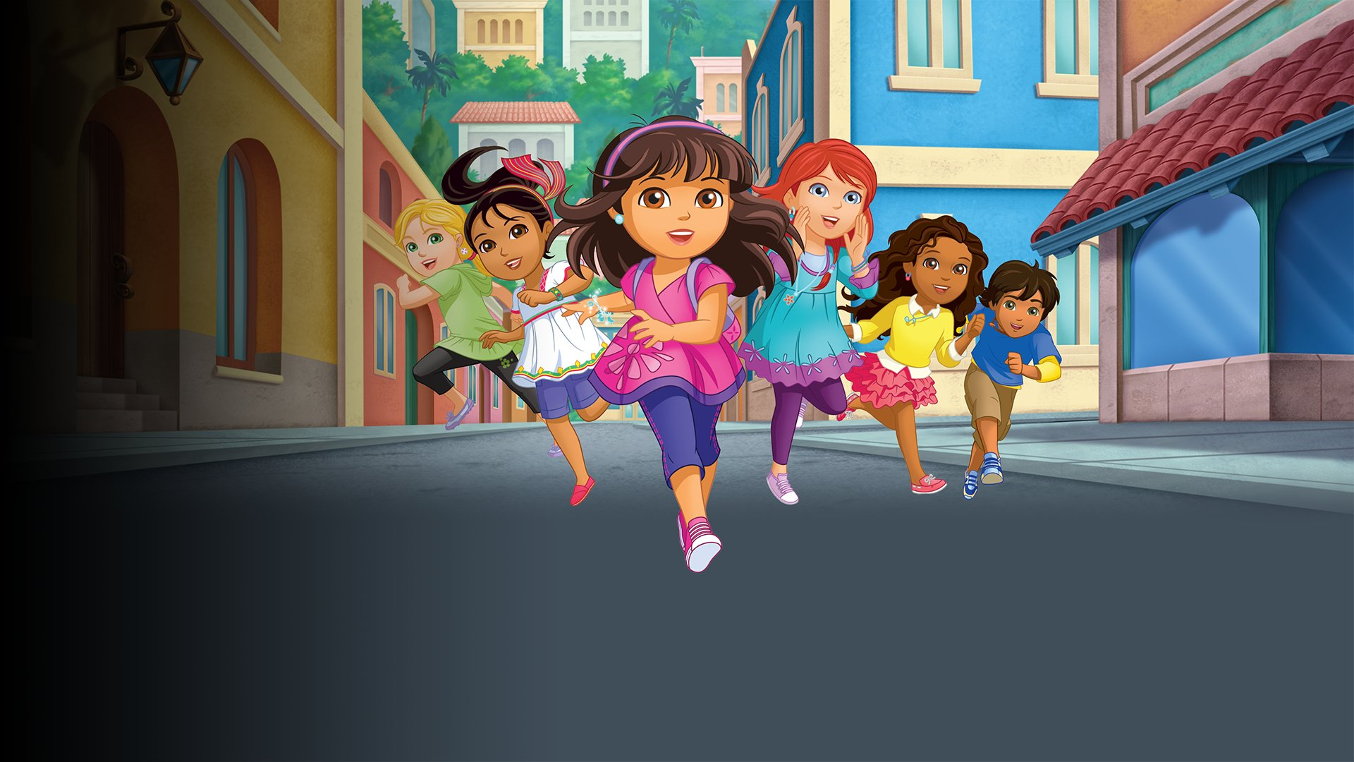fond Dora and Friends