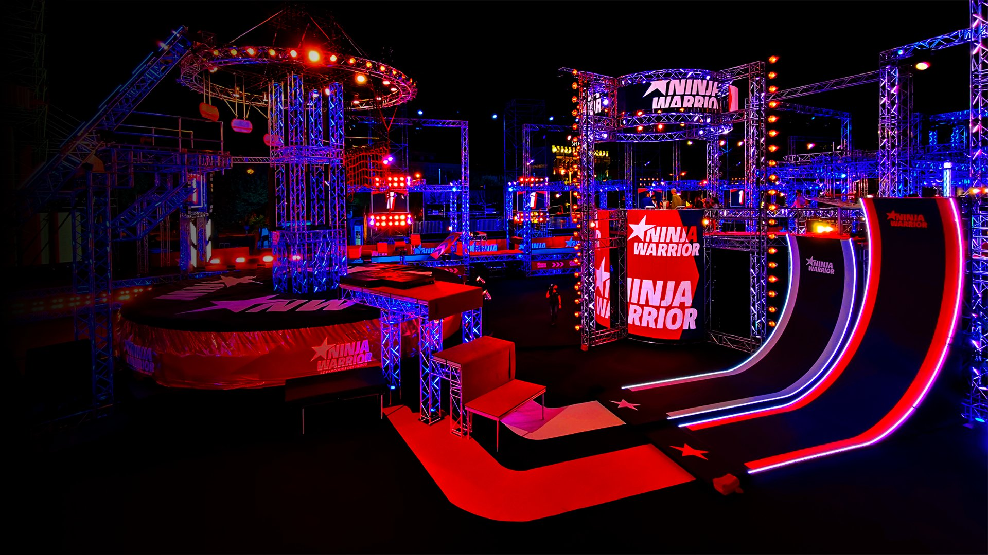 fond J-1 Finale Ninja Warrior : du fun avant la concentration !