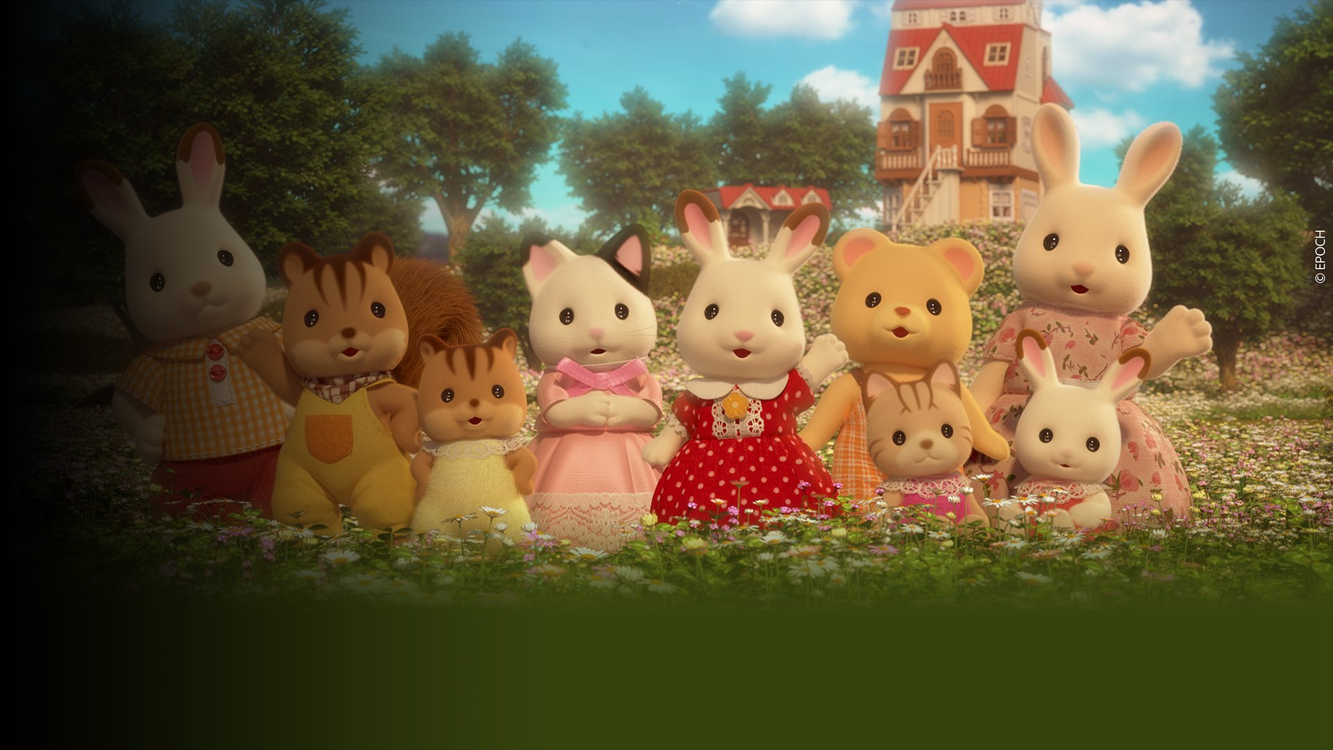 fond Sylvanian - S01 E01 - Bonjour la famille lapin chocolat !