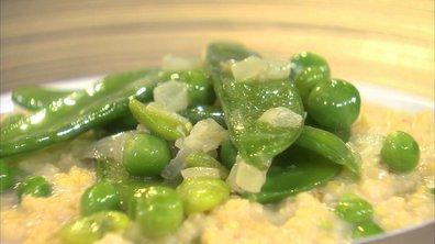 Millet aux petits légumes verts façon risotto