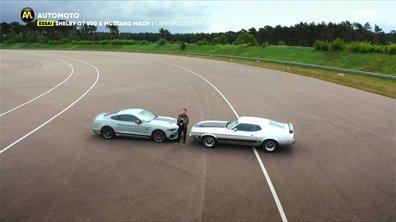 """Essai : Shelby GT500 et Mustang Mach 1, l'Amérique en mode """"radicales"""""""