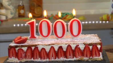 Mille-feuille aux fraises à la crème mentholée