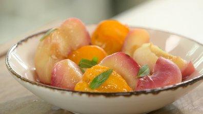 Fruits du verger au sirop de verveine