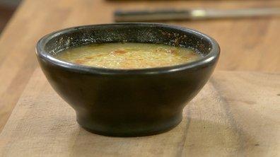 Soupe à l'échalote gratinée au Beaufort