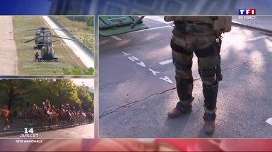 Spéciale 14-juillet : un soldat équipé d'un exosquelette nous présente cette innovation