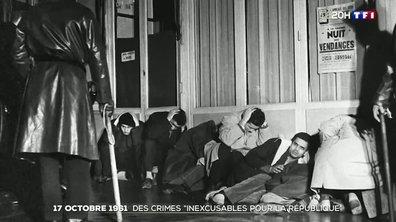 """17 octobre 1961 : des crimes """"inexcusables pour la République"""""""