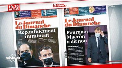 19h30 Médias: comment Emmanuel Macron a changé d'avis sur le reconfinement