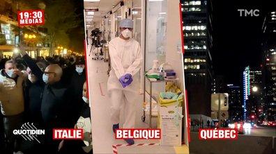 19h30 Médias - Confinement et couvre-feu ont-ils fait leurs preuves chez nos voisins ?