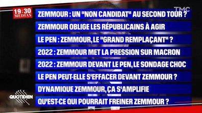 19h30 Médias – Éric Zemmour : à quoi jouent les chaînes d'infos ?