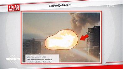 19h30 Médias : le récit seconde par seconde de l'explosion à Beyrouth vu par le New York Times