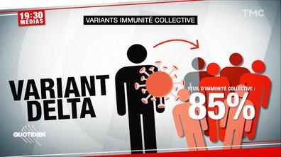 19h30 Médias : pourquoi faut-il désormais vacciner 85% de la population pour obtenir l'immunité collective ?