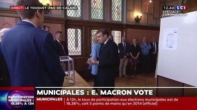 Municipales : Emmanuel et Brigitte Macron ont voté au Touquet